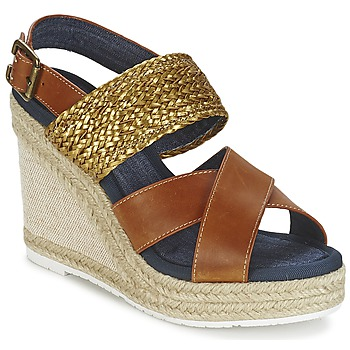 Zapatos Mujer Sandalias Napapijri BELLE Camel / DORADO