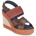 Zapatos Mujer Sandalias Napapijri BELLE Marrón / Rojo