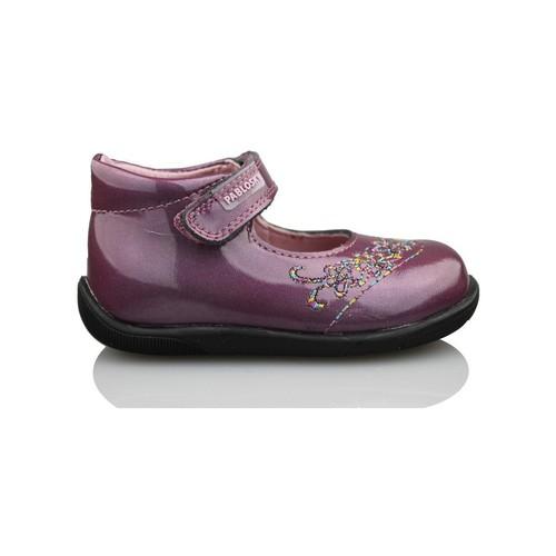 Zapatos Niña Bailarinas-manoletinas Pablosky GANGES MADRAS BAILARINA MORADO