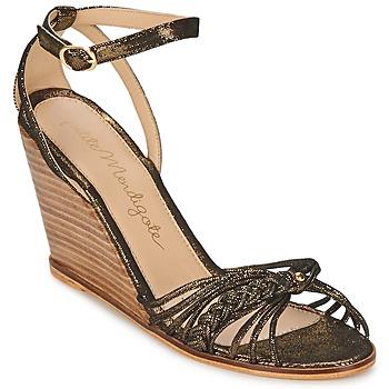 Zapatos Mujer Sandalias Petite Mendigote COLOMBE Negro / Oro