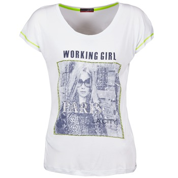 textil Mujer camisetas manga corta La City TMCD3 Blanco