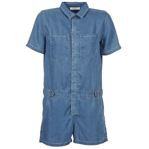 textil Mujer Monos / Petos Teddy Smith CALINCA DENIM LYOCELL Azul