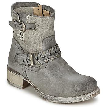 Zapatos Mujer Botas de caña baja Café Noir Boogry Gris