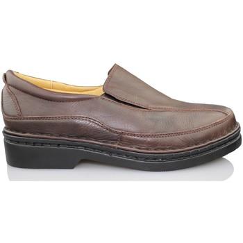 Zapatos Hombre Mocasín Calzamedi MOCASIN VESTIR MARRON HOMBRE NEGRO