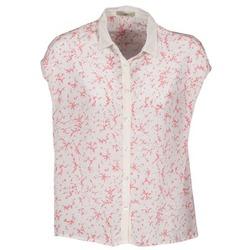 textil Mujer camisas manga corta Lola CANYON Blanco / Rojo