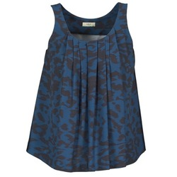 textil Mujer camisetas sin mangas Lola CUBA Azul / Negro