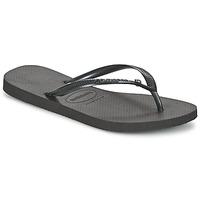 Zapatos Mujer Chanclas Havaianas SLIM CRYSTAL GLAMOUR SWAROVSKI Negro