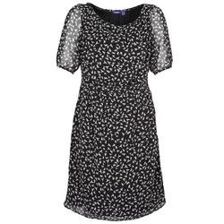 textil Mujer vestidos cortos Mexx 13LW130 Negro / Blanco