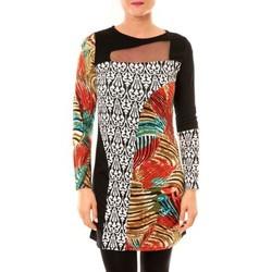 textil Mujer Vestidos cortos Bamboo's Fashion Robe Zoulou BW621 noir Negro