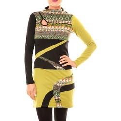 textil Mujer Vestidos cortos Bamboo's Fashion Robe Tribal BW622 vert Verde