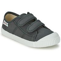 Zapatos Niños Zapatillas bajas Victoria BLUCHER LONA DOS VELCROS Antracita