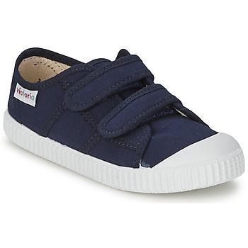 Zapatos Niños Zapatillas bajas Victoria BLUCHER LONA DOS VELCROS Marino