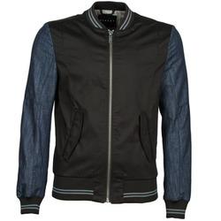 textil Hombre cazadoras Sisley 2ID2533A9 Negro / Azul