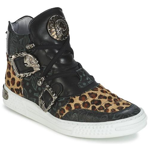 Zapatos Mujer Zapatillas altas New Rock ANTERLO Leopardo