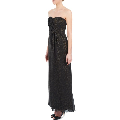 612930 Largos Textil Mujer Manoukian Vestidos NegroOro bI6gvYf7ym