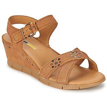 Zapatos Mujer Sandalias Manas  Camel