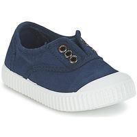 Zapatos Niños Zapatillas bajas Victoria INGLESA LONA TINTADA Marino