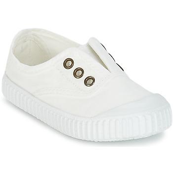 Zapatos Niños Zapatillas bajas Victoria INGLESA LONA TINTADA Blanco