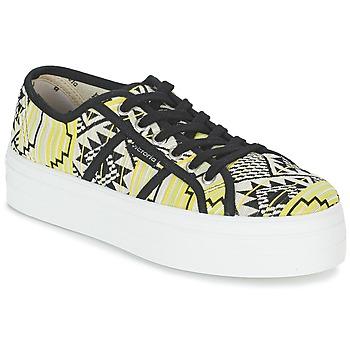 Zapatos Mujer Zapatillas bajas Victoria BASKET ETNICO PLATAFORMA Negro / Amarillo