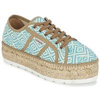 Zapatos Mujer Zapatillas bajas Victoria BASKET ETNICO PLATAFORMA Azul / Beige