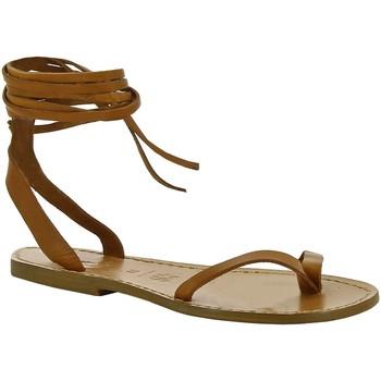 Zapatos Mujer Sandalias Gianluca - L'artigiano Del Cuoio 534 D CUOIO CUOIO Cuoio