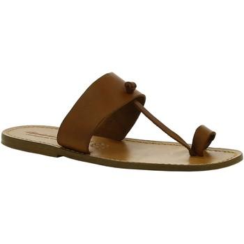 Zapatos Mujer Botas de caña baja Gianluca - L'artigiano Del Cuoio 554 U CUOIO CUOIO Cuoio