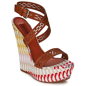 Zapatos Mujer Sandalias Missoni XM015 Marrón / Multicolor
