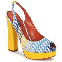 Zapatos Mujer Zapatos de tacón Missoni XM005 Amarillo / Azul