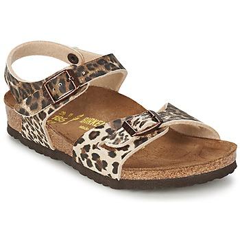 Zapatos Niña Sandalias Birkenstock RIO Leopardo / Marrón