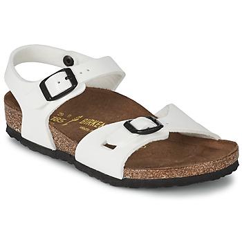 Zapatos Niña Sandalias Birkenstock RIO Blanco / Barniz