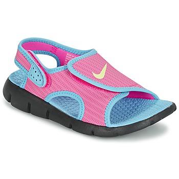 Zapatos Niña Sandalias Nike SUNRAY ADJUST 4 Rosa / Azul