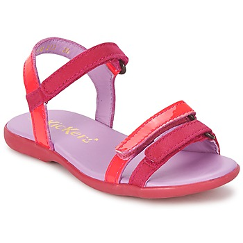 Zapatos Niña Sandalias Kickers ARCENCIEL Fucsia / Rosa / Fluo