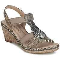 Zapatos Mujer Sandalias Remonte Dorndorf TINACE Oro / Plateado