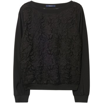 textil Mujer sudaderas Gant Camisola Lace Negro