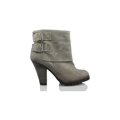 Zapatos Mujer Botines Vienty SOLAPA 2 HEBILLAS GRIS