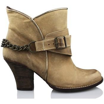 Zapatos Mujer Botines Vienty BOTIN ESPUELAS-MOSCU CUERO MARRON