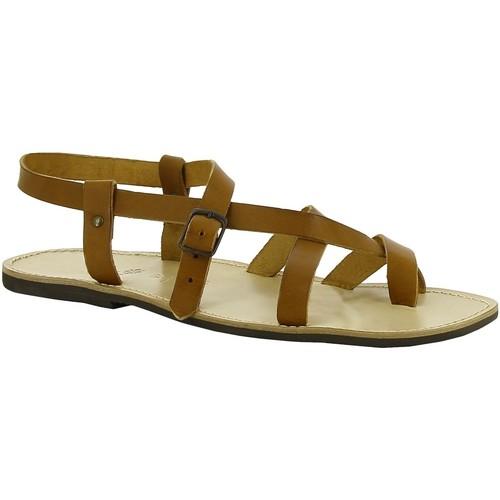 Zapatos Mujer Sandalias Gianluca - L'artigiano Del Cuoio 530 U CUOIO LGT-GOMMA Cuoio