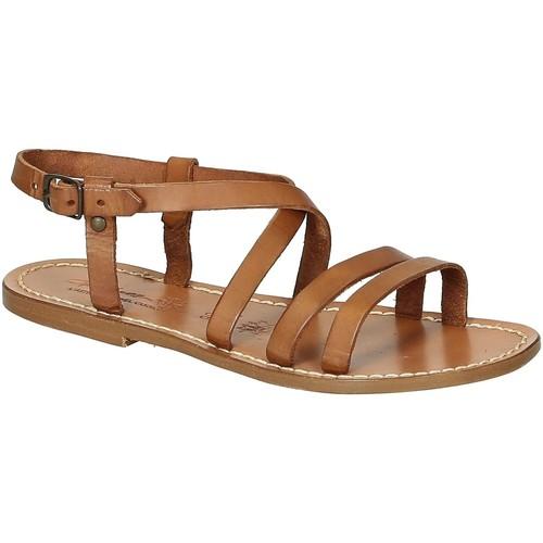 Zapatos Mujer Sandalias Gianluca - L'artigiano Del Cuoio 531 D CUOIO CUOIO Cuoio