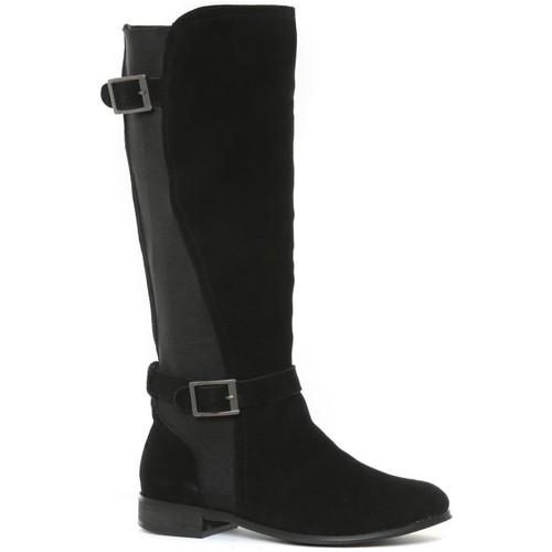 Zapatos Mujer Botas urbanas Ilario Ferucci Bottes en cuir Cissy noir Negro