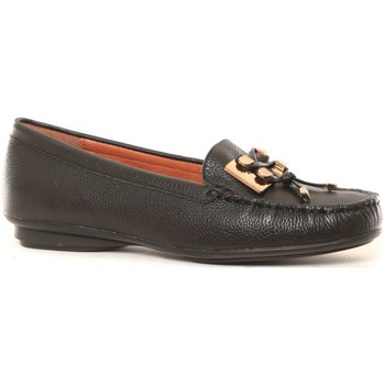 Zapatos Mujer Mocasín Ilario Ferucci Mocassins en cuir Lilac noir Negro