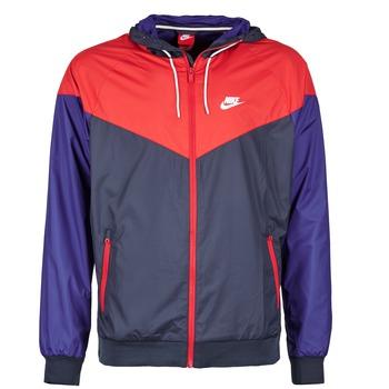 textil Hombre Cortaviento Nike WINDRUNNER Marino / Rojo / Azul