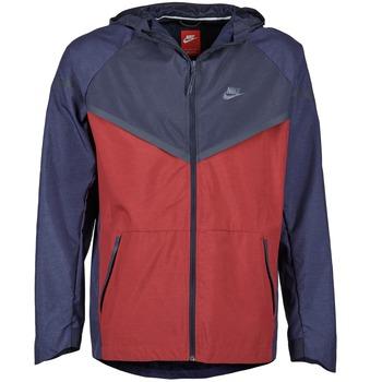 textil Hombre Cortaviento Nike TECH WINDRUNNER Rojo / Marino / Gris