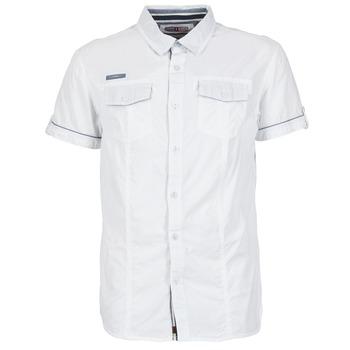 textil Hombre camisas manga corta Deeluxe ISLANDO Blanco