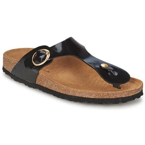 Zapatos Mujer Chanclas Casual Attitude PILTOBLE Negro / Barniz
