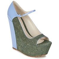 Zapatos Mujer Zapatos de tacón John Galliano S54261 Azul / Verde
