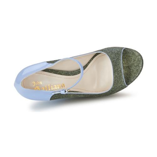 Tacón Galliano Zapatos De John AzulVerde 80wnkPXO