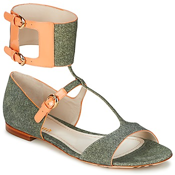 Zapatos Mujer Sandalias John Galliano A65970 Verde / Beige