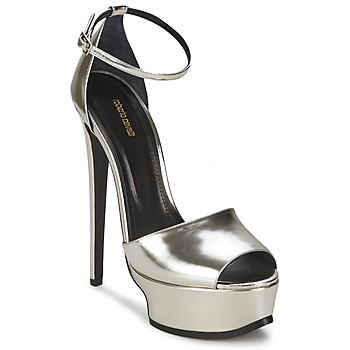 Zapatos Mujer Sandalias Roberto Cavalli XPS260-PZ048 Gris / Plateado
