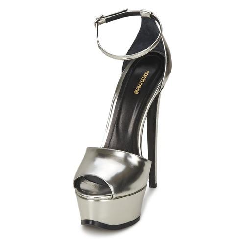 Los últimos zapatos de descuento para hombres y mujeres Zapatos especiales Roberto Cavalli XPS260-PZ048 Gris / Plateado