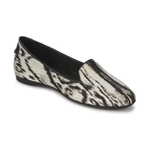 Zapatos Mujer Bailarinas-manoletinas Roberto Cavalli XPS280-FLA35 Beige / Negro